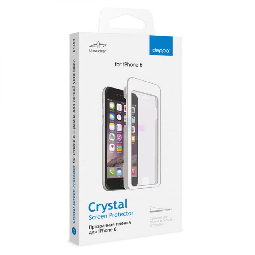 Deppa Защитная пленка для Apple iPhone 6/6S и рамка для легкой установки