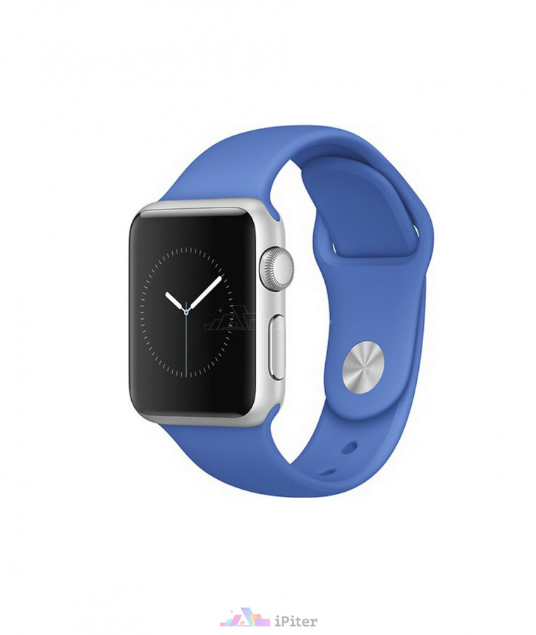 Фото Купить Apple Watch Sport, 38 мм, Silver Aluminum Case with Royal Blue Sport Band (MMF22)