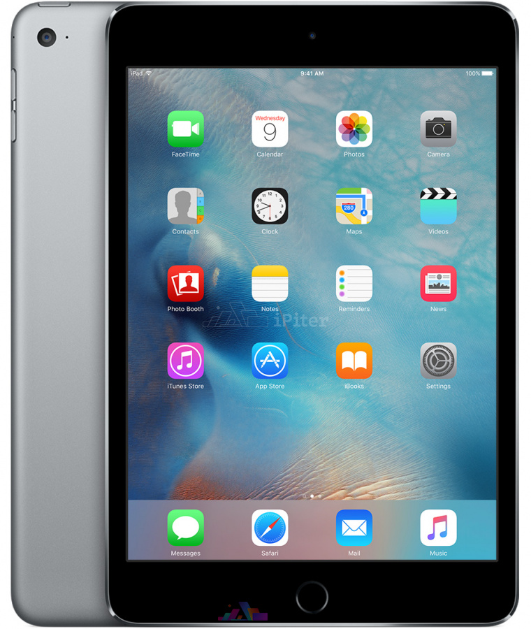 Фото Купить Apple iPad Mini 4 16Gb Wi-Fi + Cellular Space Gray (MK6Y2RU/A)