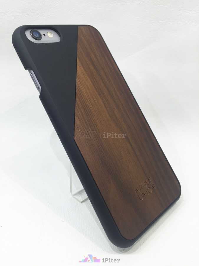 Фото Чехлы для iPhone 6/6s Native Union CLIC Wooden, Черный
