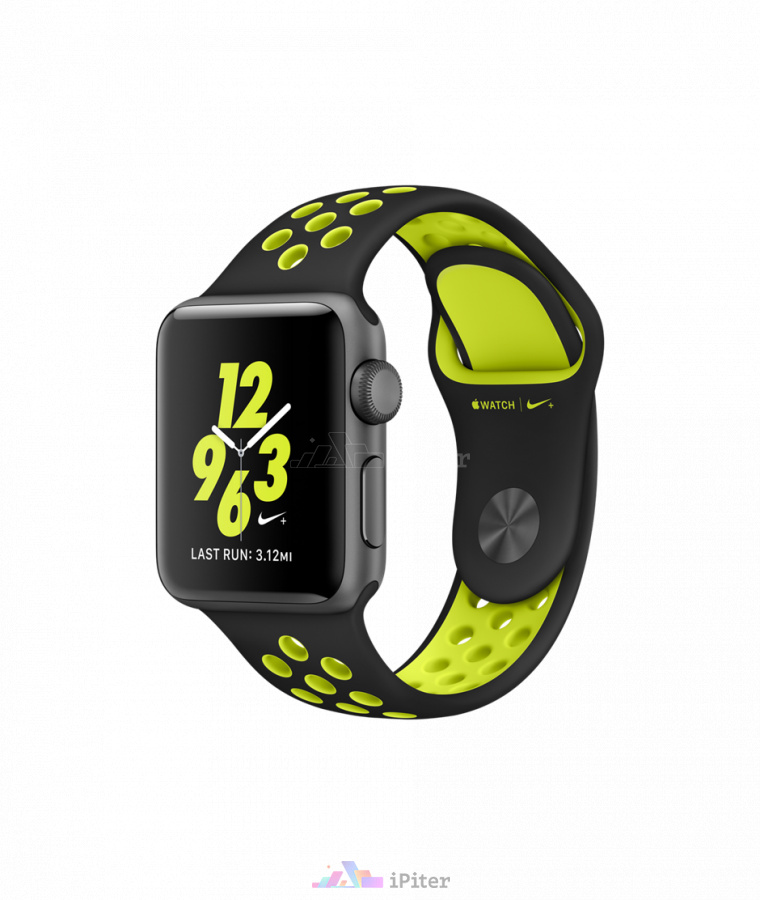 Фото Купить Apple Watch Nike+, 38 мм, Space Gray Aluminum Case with Black/Volt Nike Sport Band (MP082)