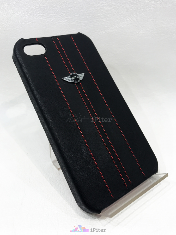 Фото Mini Hard Case Red для iPhone 4/4s, Чёрный