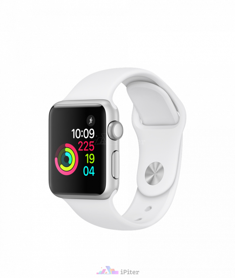 Фото Купить Apple Watch Series 1, 38 мм, Silver Aluminum Case with White Sport Band (MNNG2)