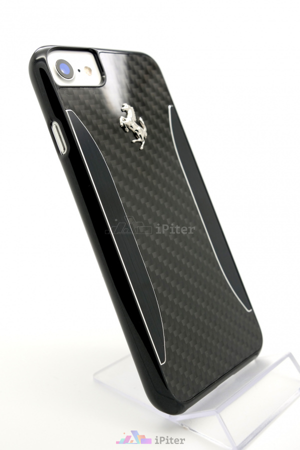 Фото Чехол Ferrari Carbon Hard Case для iPhone 8 / 7, Черный