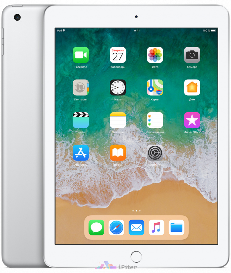 Фото Купить Apple iPad 2018 Wi-Fi + Cellular 32gb Silver (MR6P2)