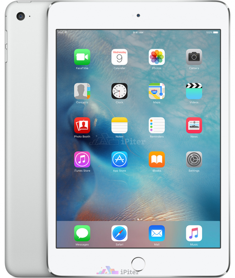 Фото Купить Apple iPad Mini 4 128Gb Wi-Fi + Cellular Silver (MK772)