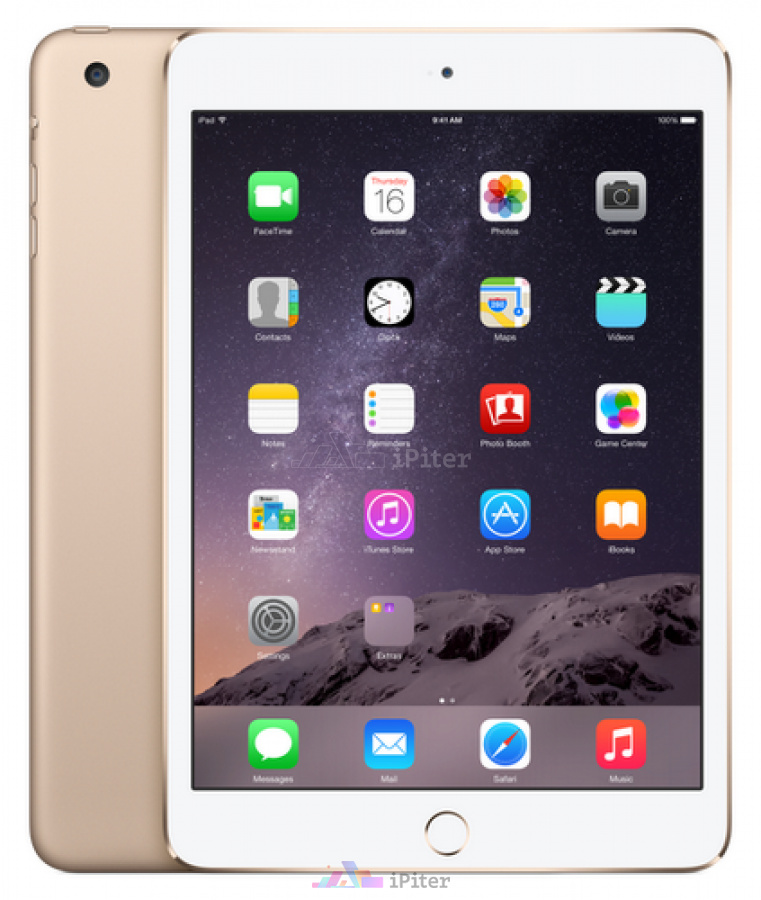 Фото Купить Apple iPad Mini 3 16Gb Wi-Fi Gold (MGNV2RU/A)