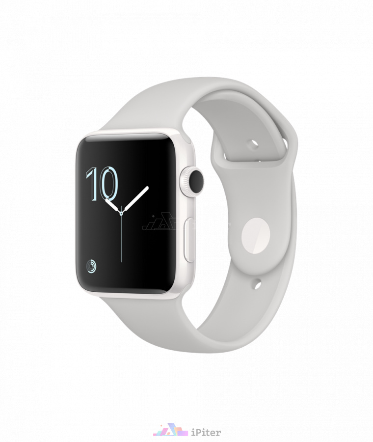 Фото Купить Apple Watch Edition, 42мм, White Ceramic Case with Cloud Sport Band (MNPQ2)