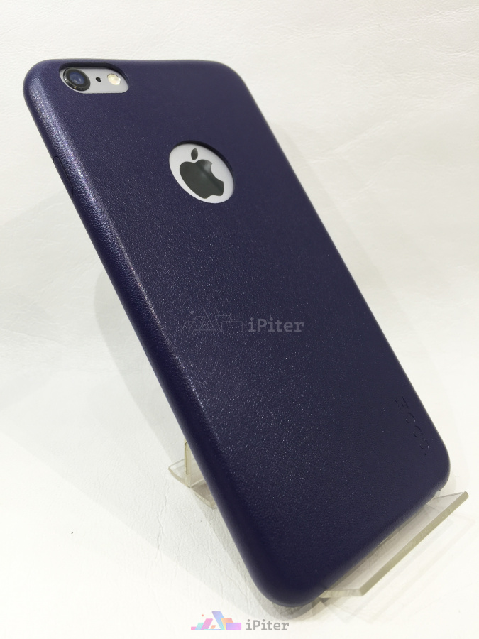 Фото Накладка Hoco для iPhone 6/6S PLUS Slimfit Series Leather, Темно-синий