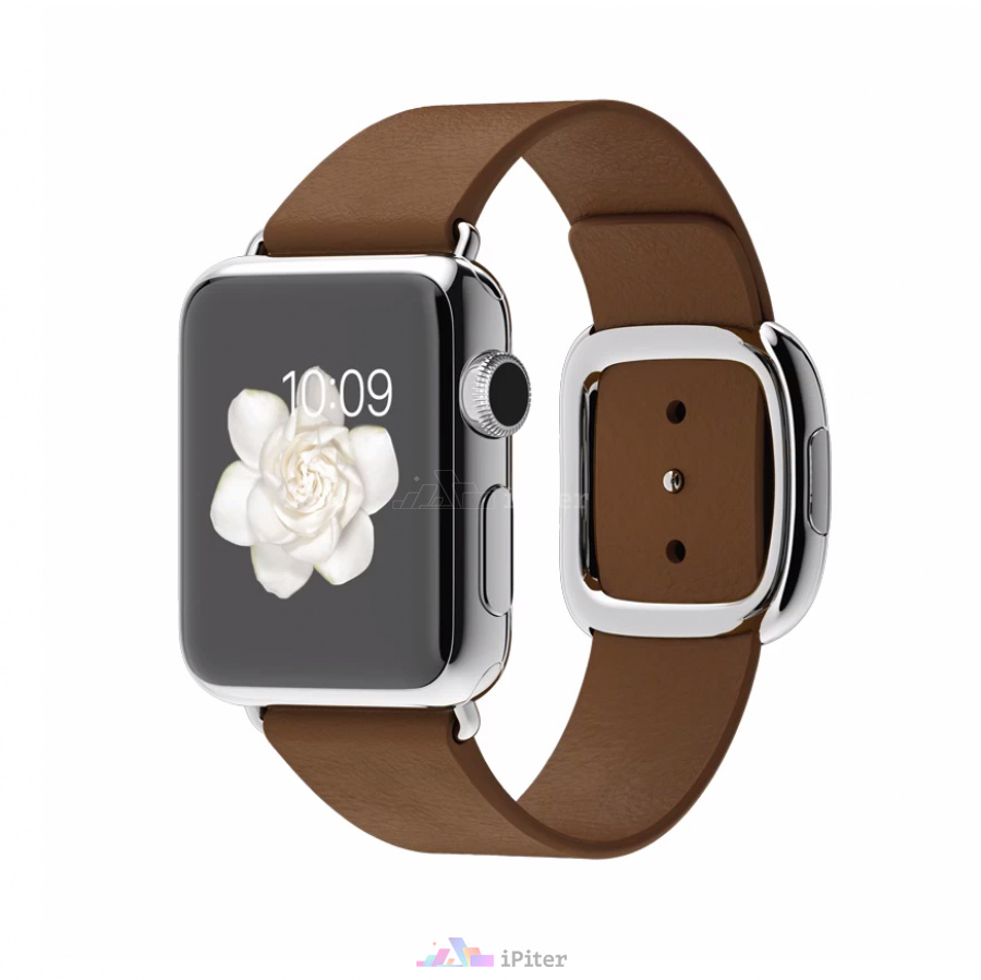 Фото Купить Apple Watch, 38 мм, Stainless Steel Case with Brown Modern Buckle (MJ3C2)