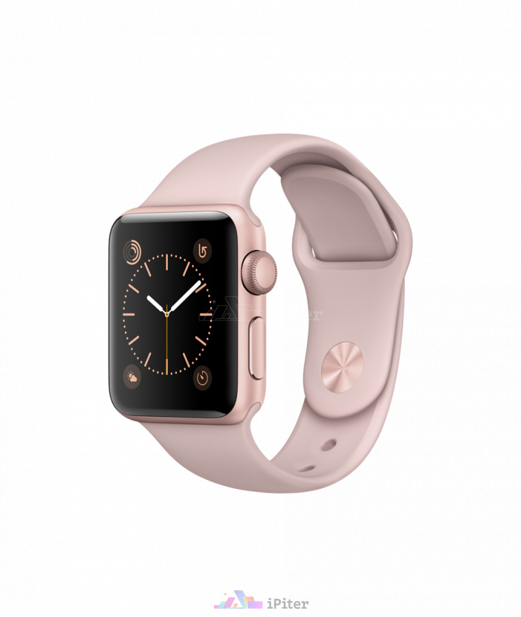 Фото Купить Apple Watch Series 2, 38 мм, Rose Gold Aluminum Case with Pink Sand Sport Band (MNNY2)