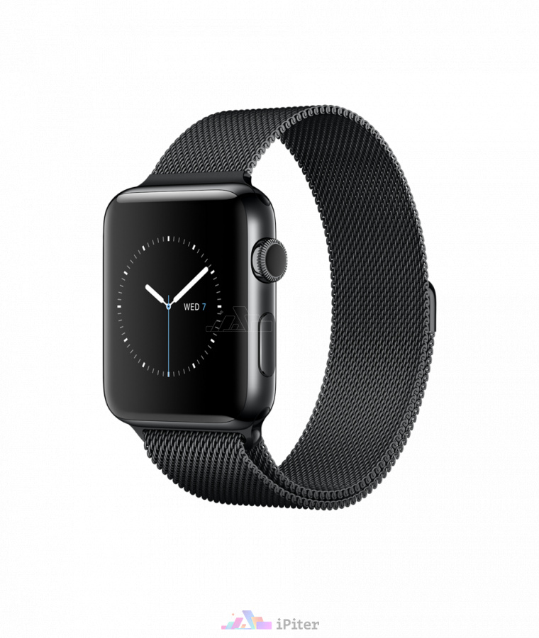 Фото Купить Apple Watch Series 2, 42 мм, Space Black Stainless Steel Case with Black Sport Band