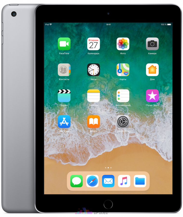 Фото Купить Apple iPad 2018 Wi-Fi 128gb Space Gray (MR7J2)