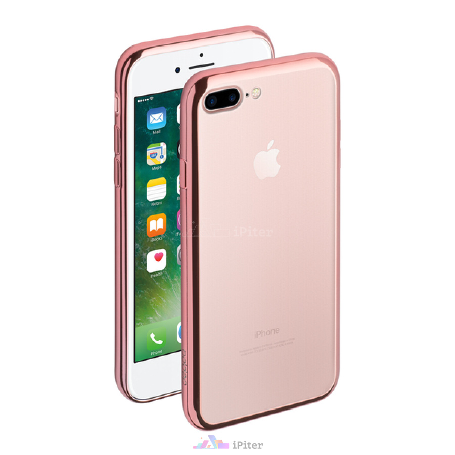Фото Чехол Deppa Gel Plus для Apple iPhone 7 Plus, Rose Gold