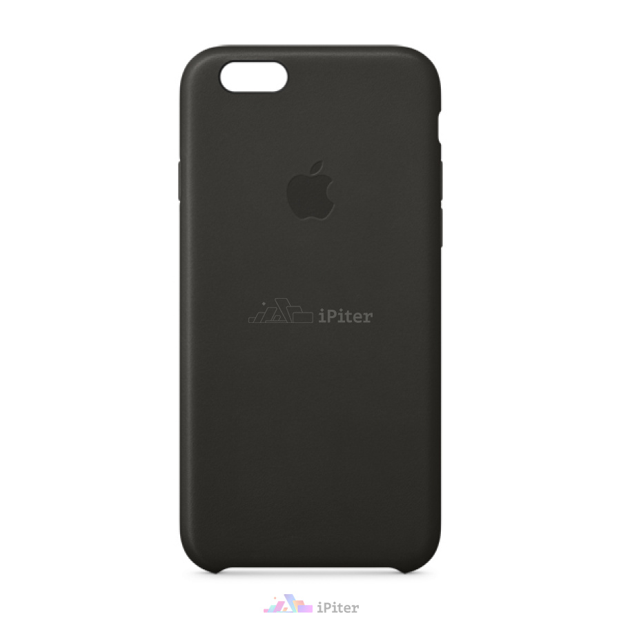 Фото Apple iPhone 6/6s Leather Case (MGR62), Чёрный