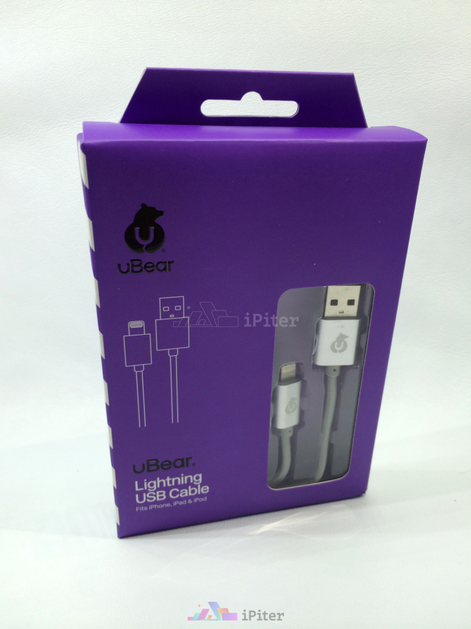 Фото UBear MFI LIGHTNING USB CABLE, Серый