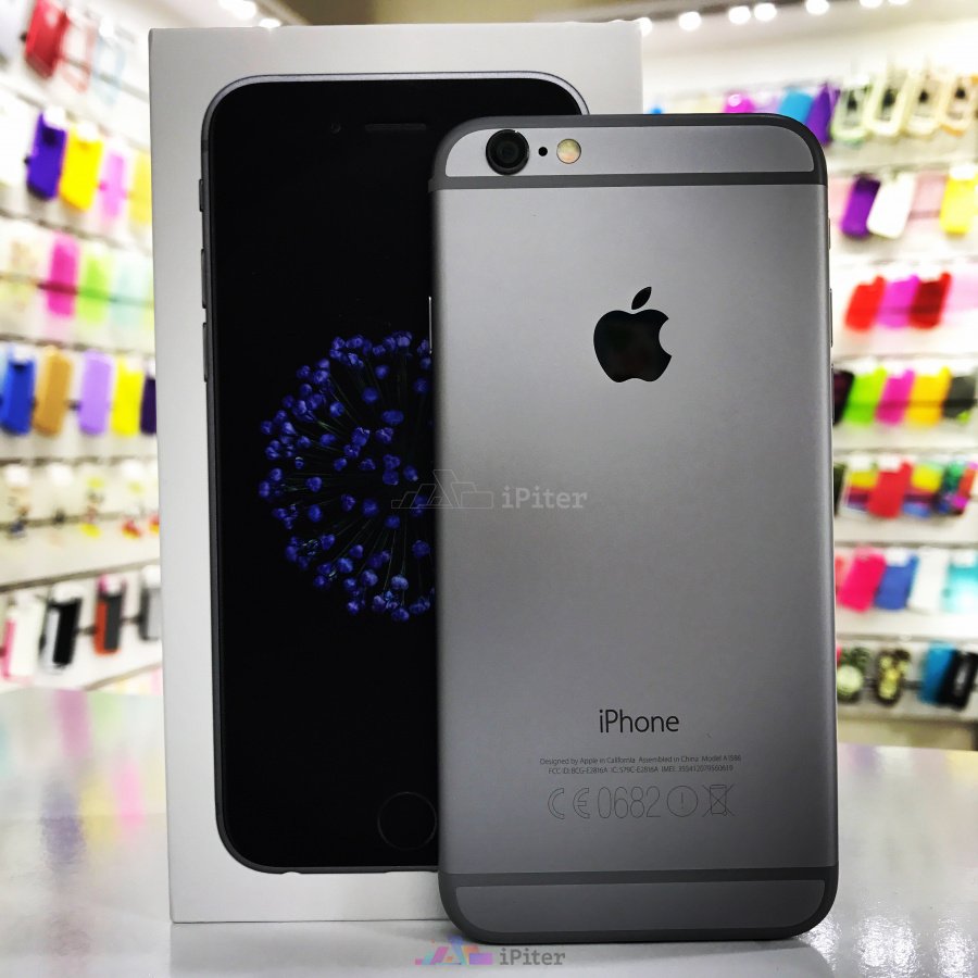Фото Купить Apple iPhone 6 32Gb<br> Space Gray (MQ3D2)