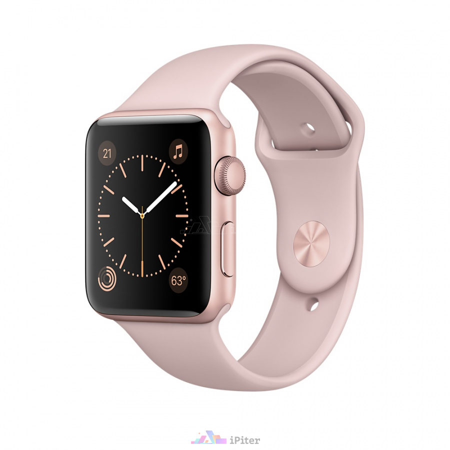 Фото Apple Watch Series 1, 42 мм, Rose Gold Aluminum Case with Pink Sand Sport Band (MQ112)
