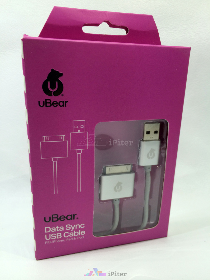 Фото UBear MFI DATA SYNC USB CABLE, Серый