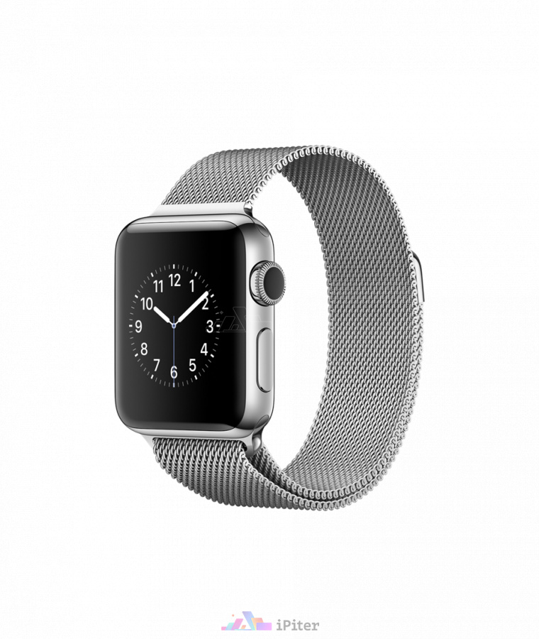Фото Купить Apple Watch Series 2, 38 мм, Stainless Steel Case with Milanese Loop (MNP62)