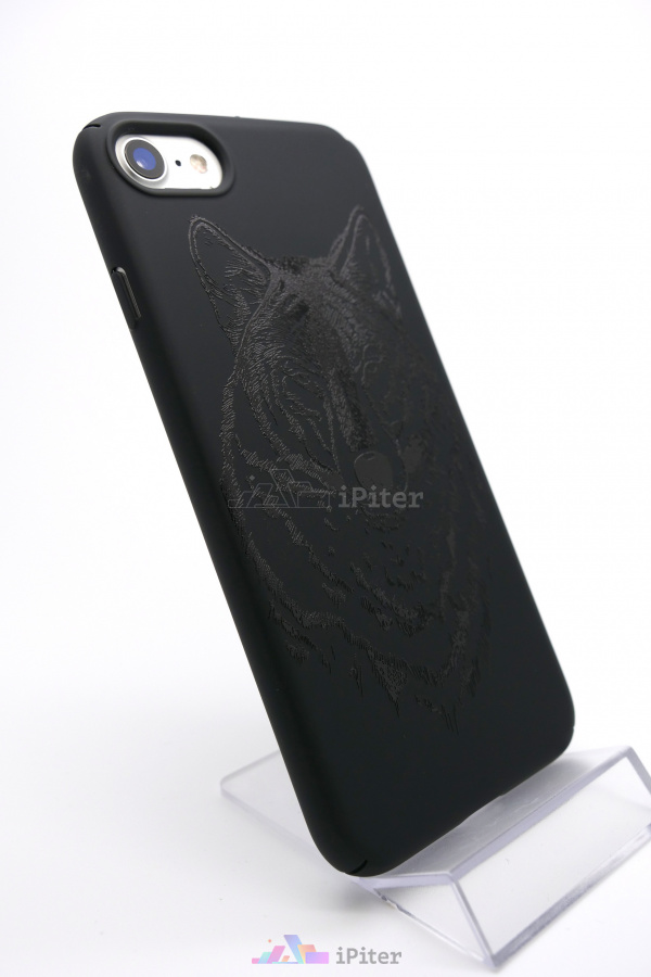 Фото Чехол Deppa ArtCase для iPhone 8 / 7, Black Волк, Черный