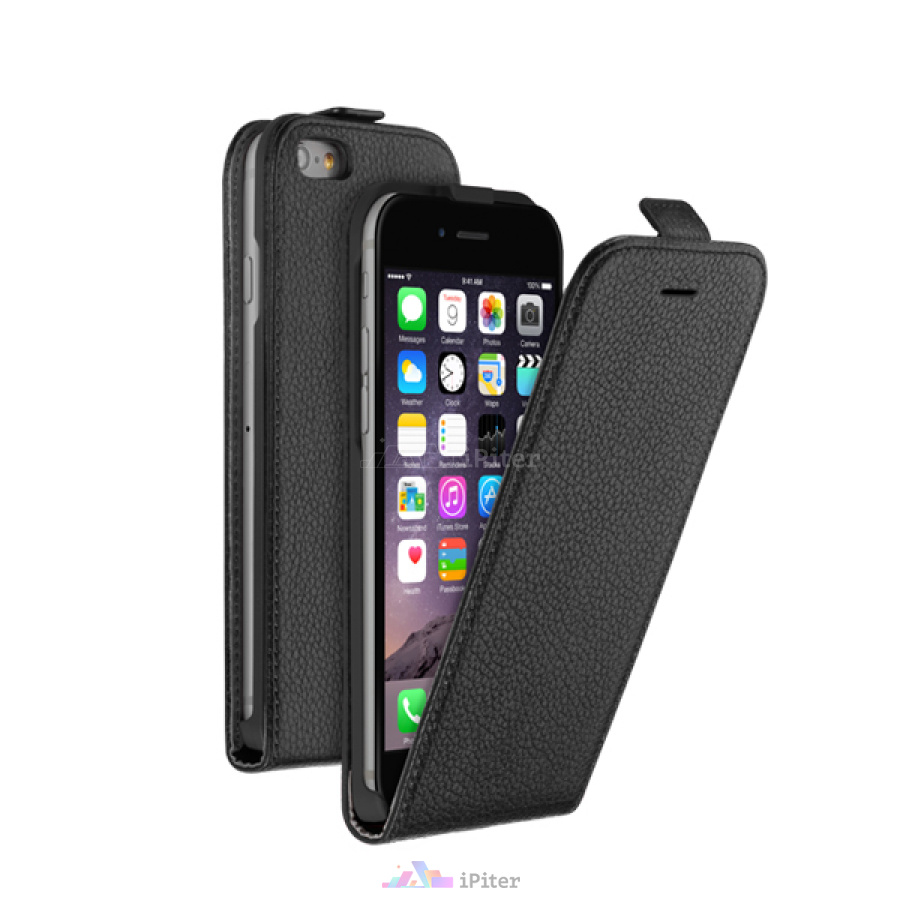 Фото Чехол Flip Cover для Apple iPhone 6, Чёрный