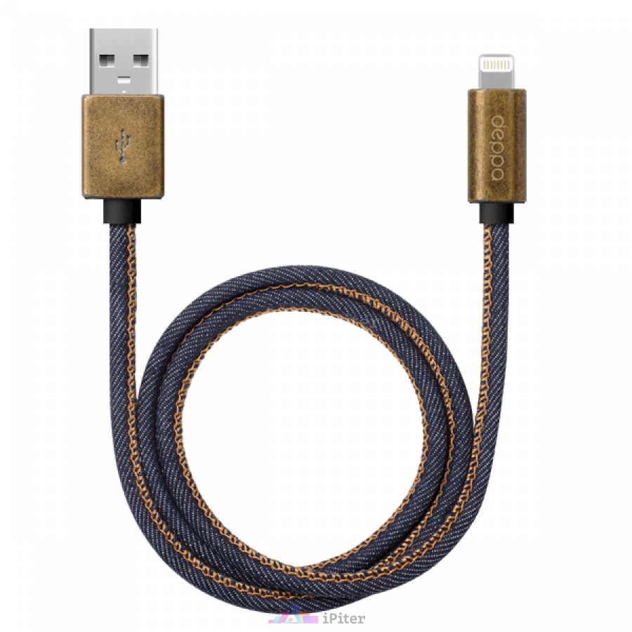 Фото Дата-кабель Jeans USB — 8-pin для Apple, MFI, Синий