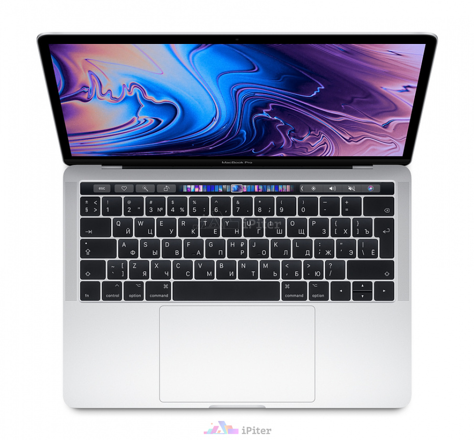 Фото Купить Apple MacBook Pro 13 with Touch Bar Mid 2019 128Gb / 8Gb / i5 Silver (MUHQ2RU/A) по низкой цене в СПб
