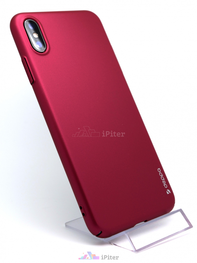 Фото Чехол Deppa Air Case для Apple iPhone XS Max, Тёмно-бордовый