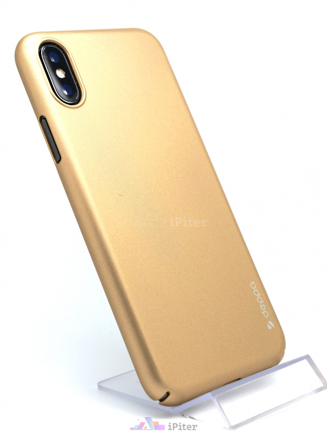 Фото Чехол Deppa Air Case для iPhone XS / X, Золотой