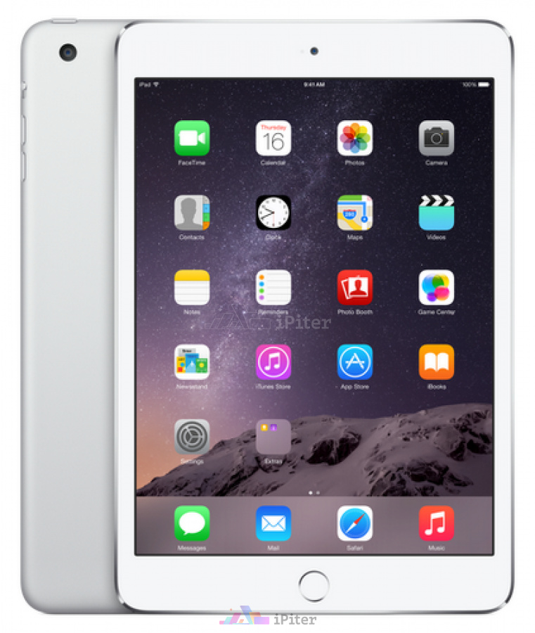 Фото Купить Apple iPad Mini 3 16Gb Wi-Fi + Cellular Silver (MGHW2RU/A)