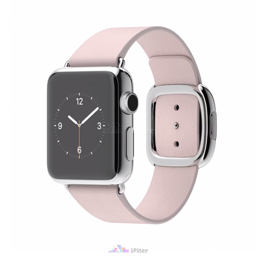Фото Купить Apple Watch, 38 мм, Stainless Steel Case with Soft Pink Modern Buckle (MJ362)