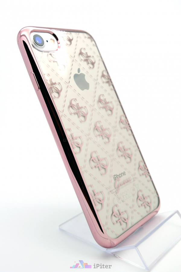 Фото Чехол Guess Transparent TPU Case для iPhone 8 / 7, Розовый