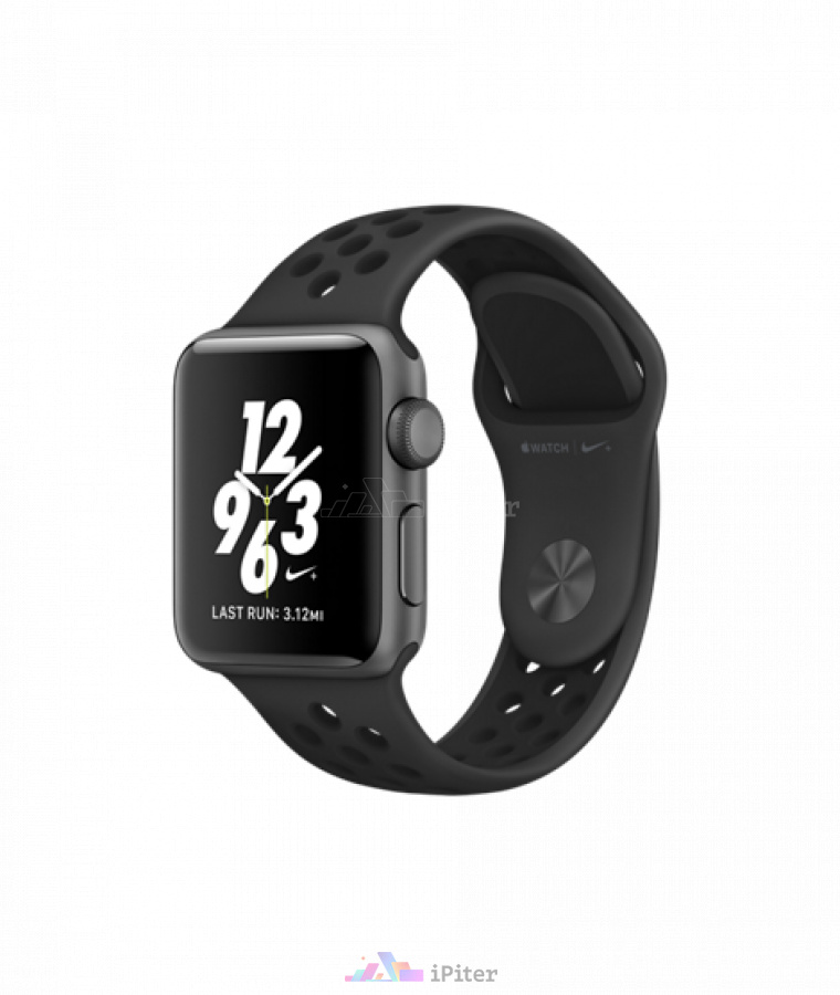 Фото Купить Apple Watch Nike+, 38 мм, Space Gray Aluminum Case with Anthracite/Black Nike Sport Band (MQ162)