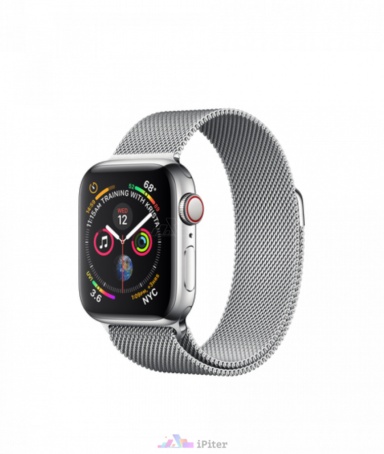 Фото Купить Apple Watch Series 4 (MTVK2) 40mm, eSim, Stainless Steel Case with Milanese Loop по низкой цене в СПб