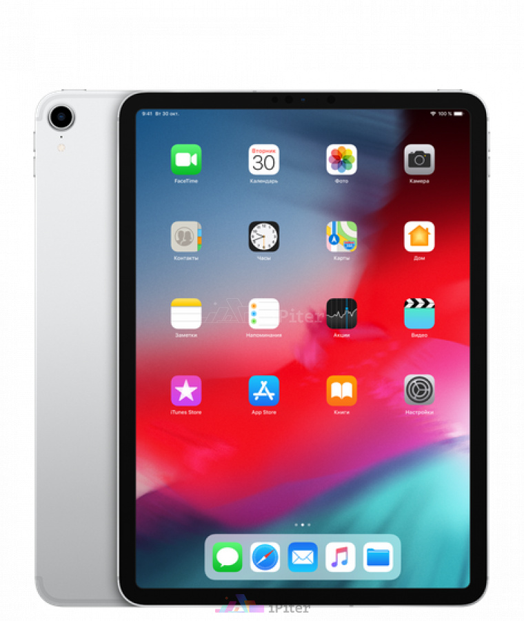 Фото Купить iPad Pro 2018 11 дюймов Wi-Fi + Cellular 64Gb Silver (MU0U2)