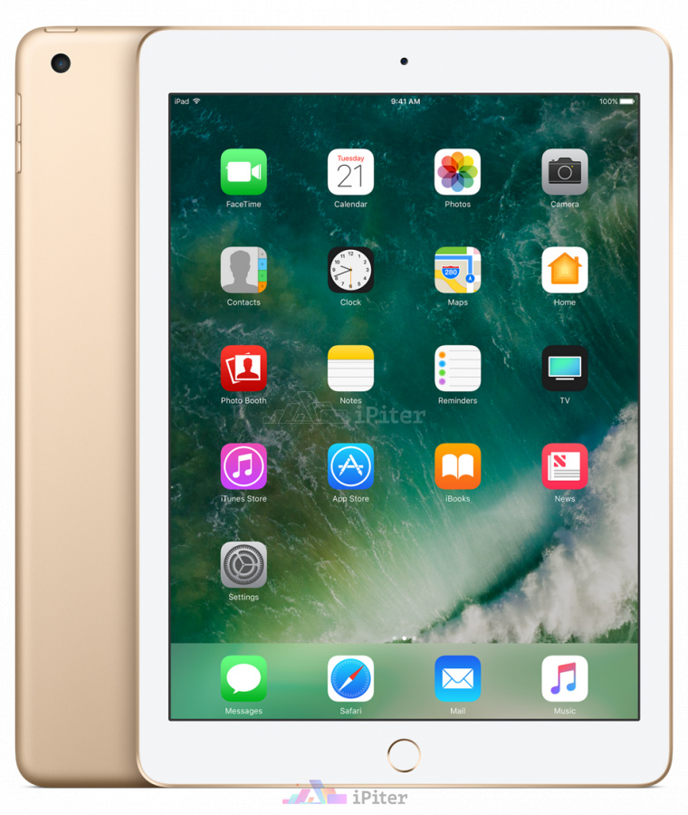 Фото Купить Apple iPad 2017 Wi-Fi + Cellular 32gb Gold MPG42