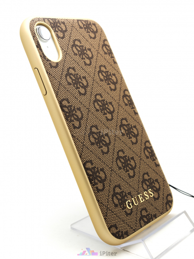 Фото Чехол Guess Charms Collection Hard для iPhone XR, Коричневый