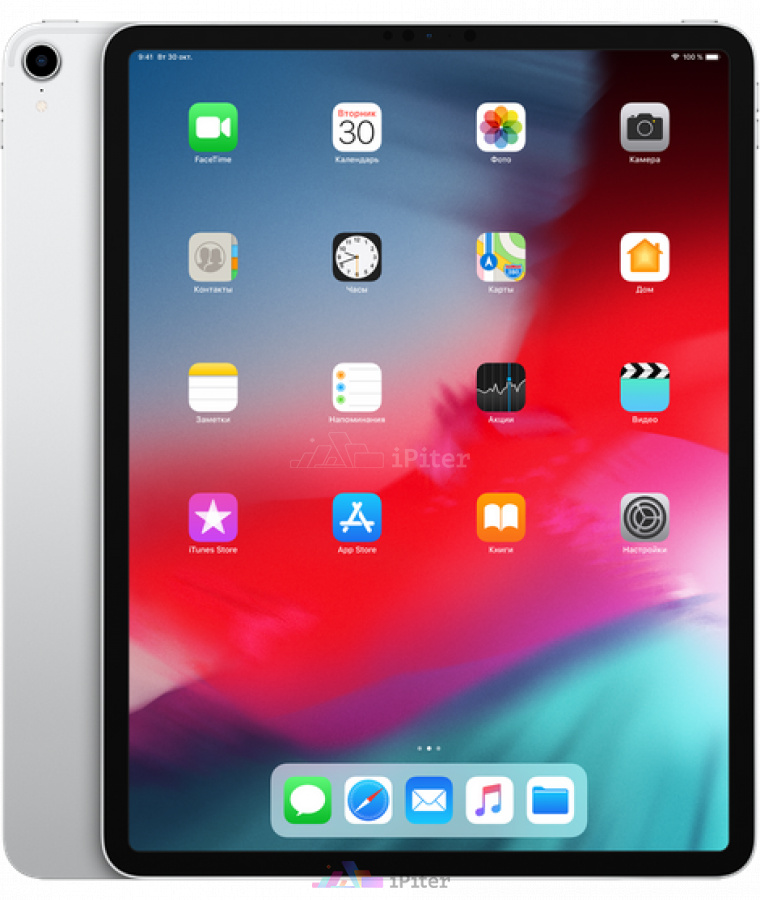 Фото Купить iPad Pro 2018 12,9 дюймов Wi-Fi + Cellular 512Gb Silver (MTJJ2)