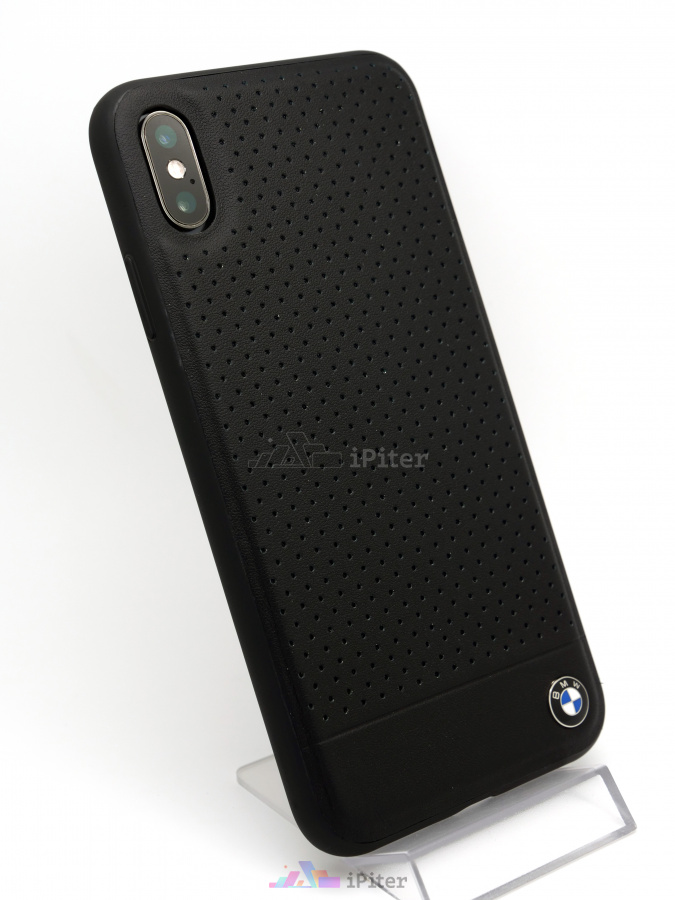 Фото Чехол BMW Leather Case для iPhone XS Max, Чёрный