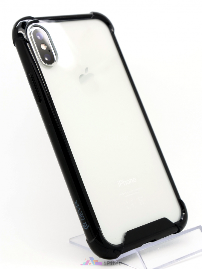 Фото Чехол Devia Shockproof Case для iPhone X, Чёрный