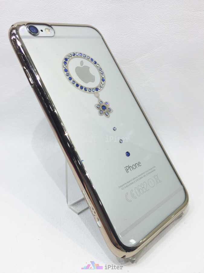 Фото Comma Crystal Camelia Series with Swarovski Element Case на iPhone 6S, Синий