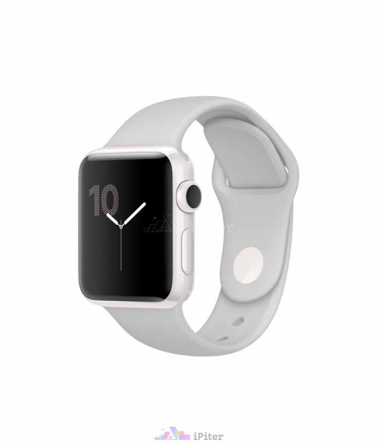 Фото Купить Apple Watch Edition, 38мм, White Ceramic Case with Cloud Sport Band (MNPF2)