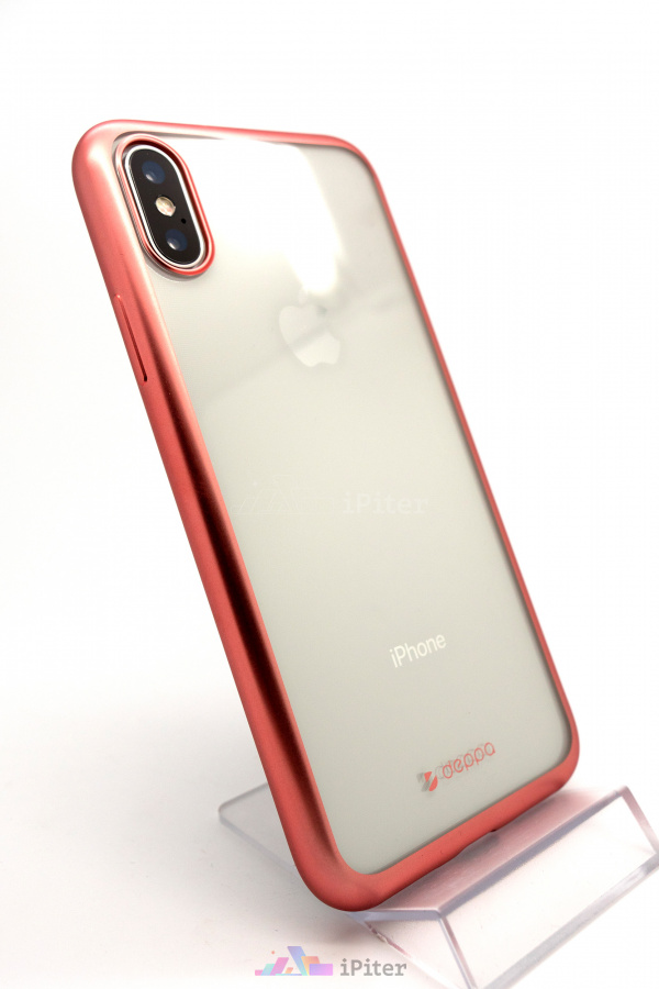 Фото Чехол Deppa Gel+ Case для iPhone X, Rose Gold