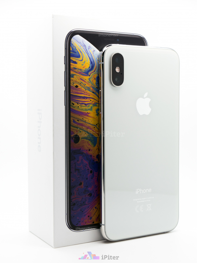 Фото Купить Apple iPhone XS 64Gb<br> Silver (MT9F2)