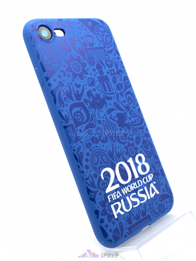 Фото Чехол Deppa FIFA World Cup 2018 для iPhone 8 / 7, Синий