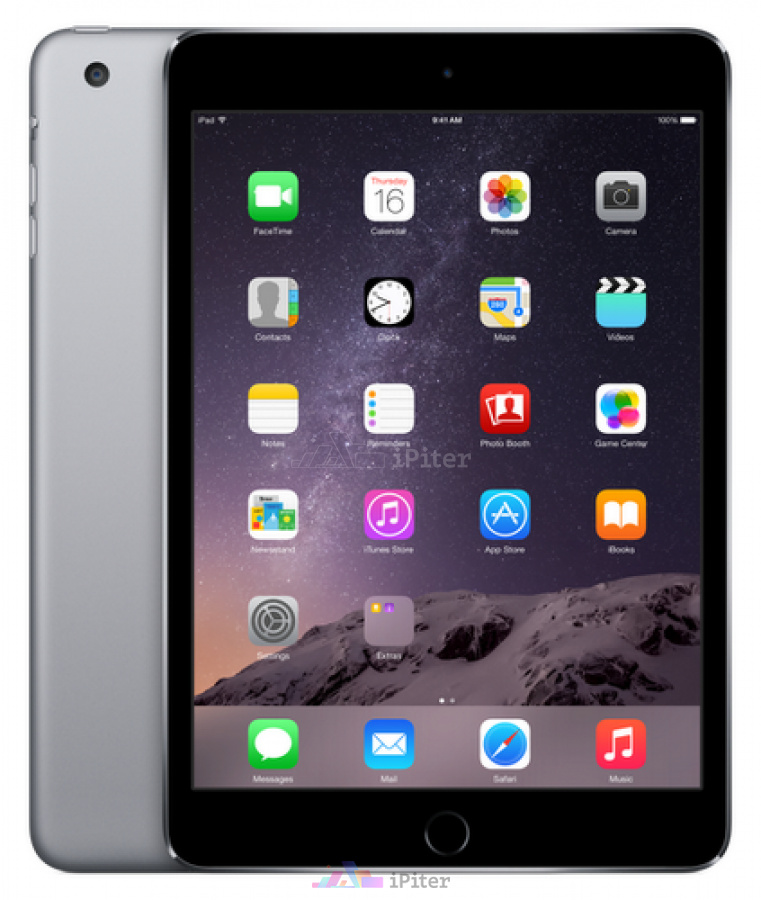 Фото Купить Apple iPad Mini 3 16Gb Wi-Fi + Cellular Space Gray (MGHV2RU/A)