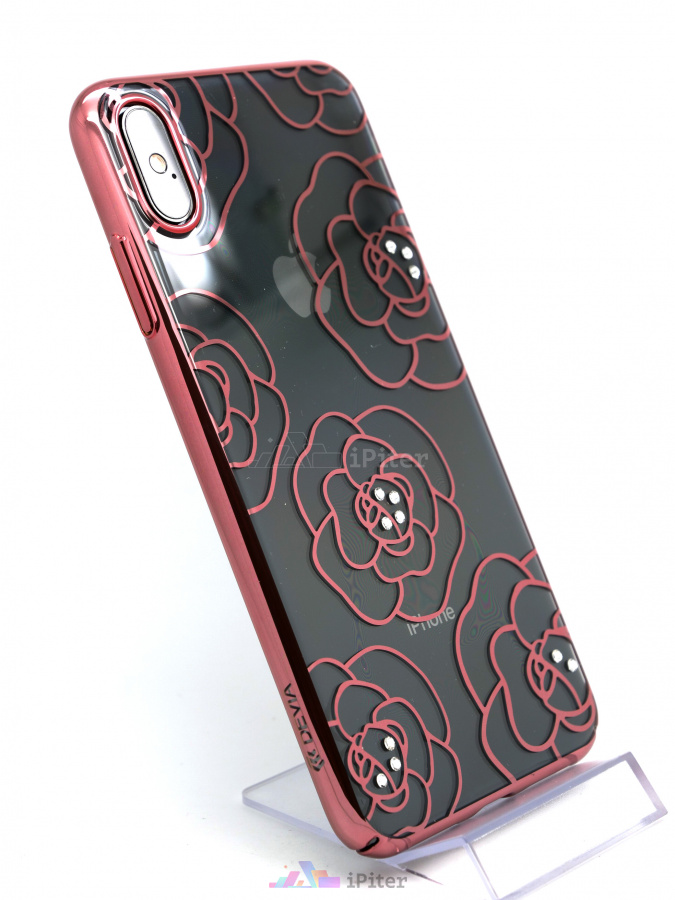 Фото Чехол Devia Camellia Crystal Series Case для iPhone XS Max, Rose Gold