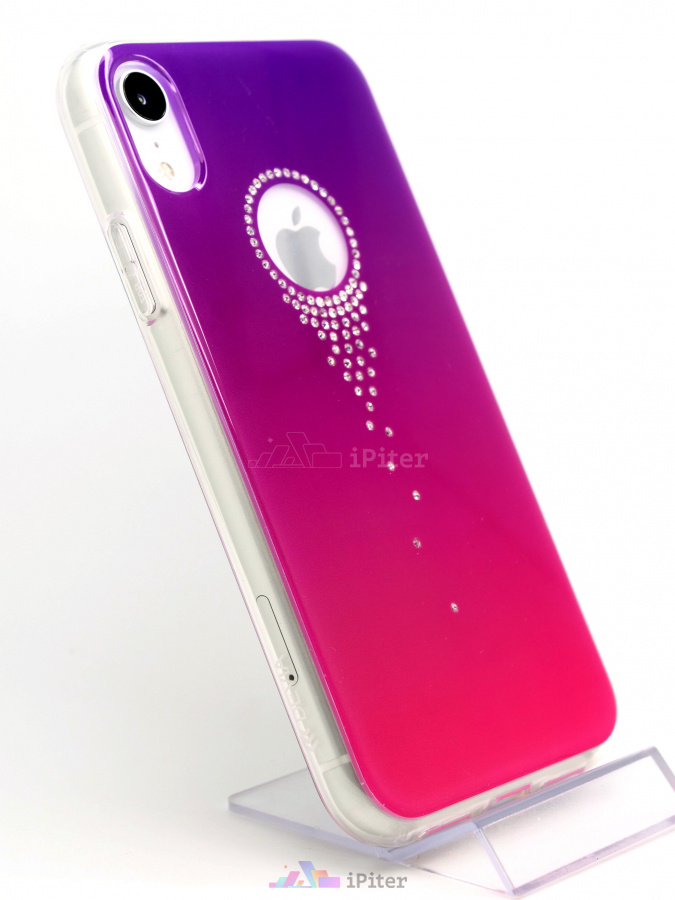 Фото Чехол Devia Angel Tears Series Crystal для iPhone XR, Фиолетовый