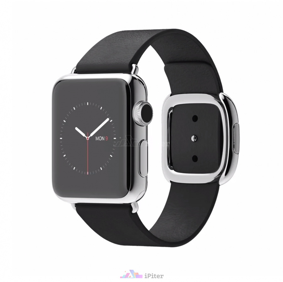 Фото Купить Apple Watch, 38 мм, Stainless Steel Case with Black Modern Buckle (MJYL2)